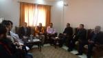 إدارة مجمع الشفاء الطبي تستقبل وفدا من جمعية السلام والتضامن والإغاثة التركية