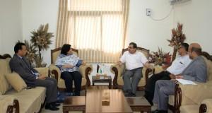 رئيس القطاع الصحي يطلع  المؤسسات الحقوقية على صورة الأوضاع الصحية الخطيرة في قطاع غزة