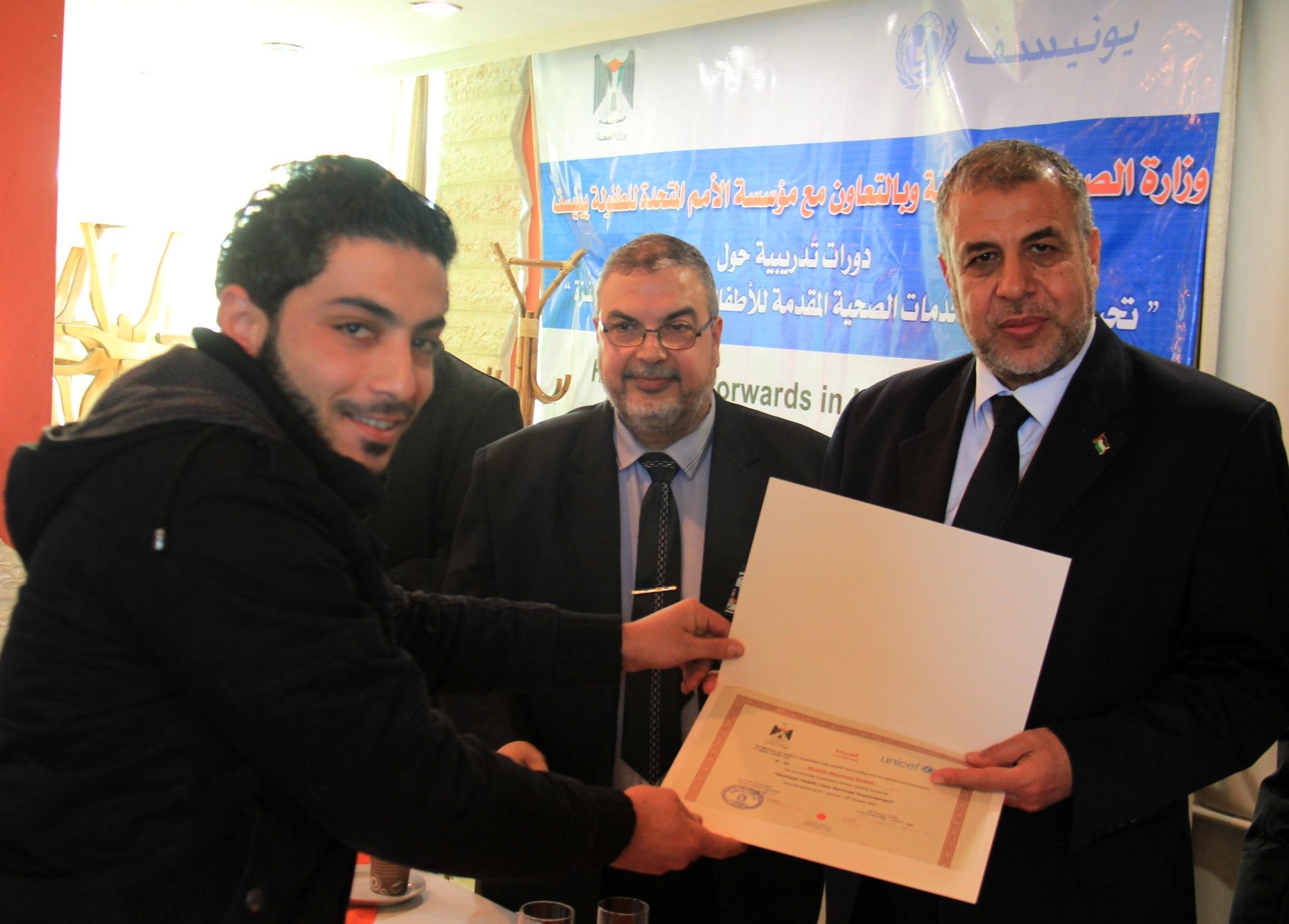 بالتعاون مع اليونسيف…الصحة تختتم  دورات تدريبية حول تحسين الخدمات الصحية لحديثي الولادة بغزة