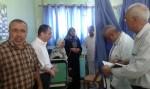 إدارة مجمع الشفاء تتفقد مرضى قسمي الكُلية الصناعية و الصدرية