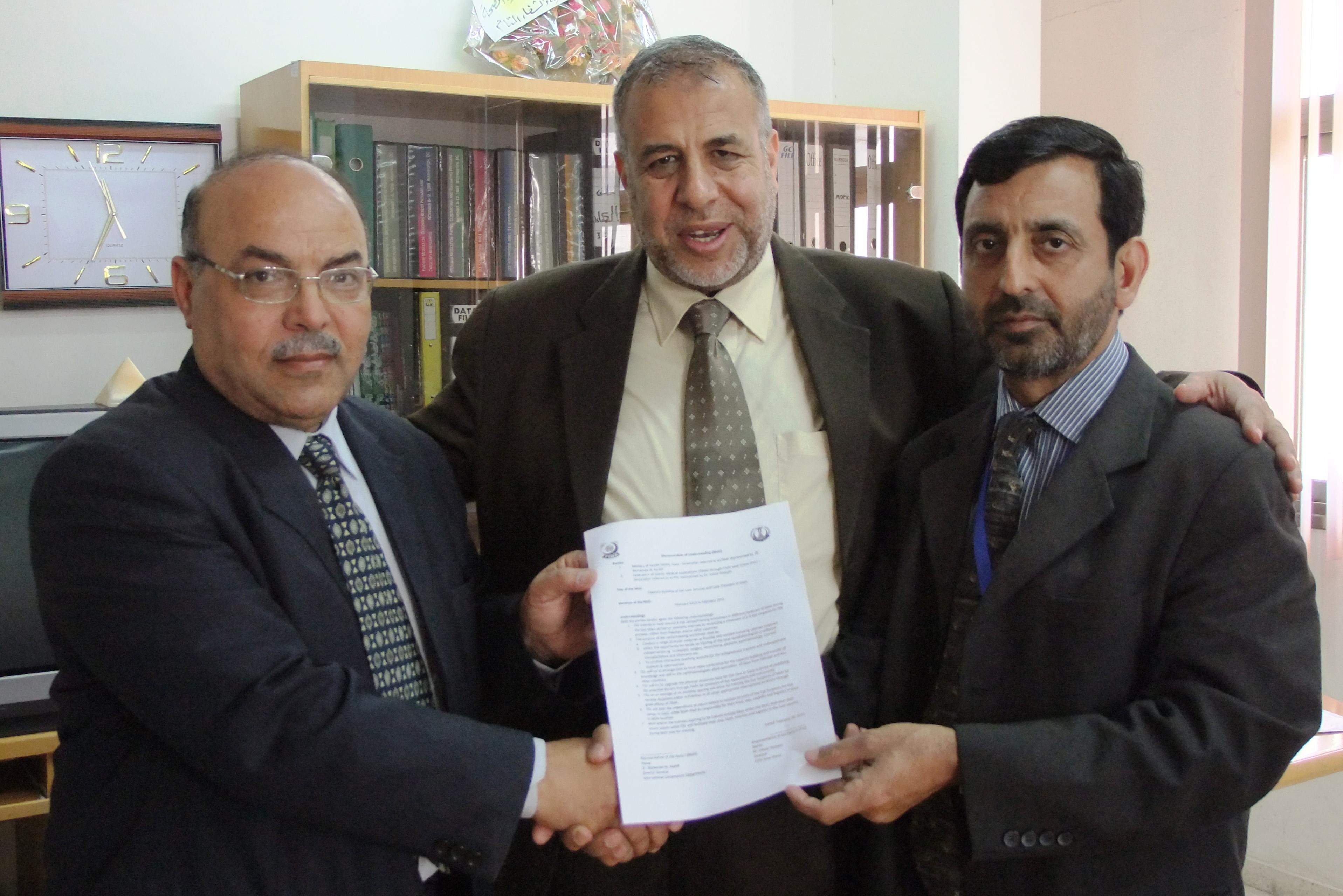 الصحة توقع مذكرة تفاهم مع وفد طبي باكستاني لعقد ورشات عمل ودورات تدريبية بمحافظات غزة