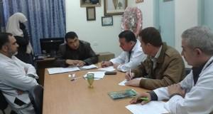 لجنة مكافحة العدوى في مستشفى الرنتيسي تضع خطة لمواجهة أزمة النظافة