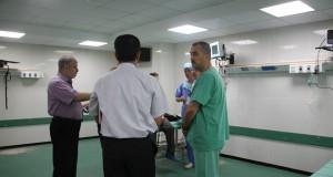 مدير عام مجمع الشفاء الطبي يتفقد سير العمل بقسم العمليات بمبنى الجراحات التخصصي بالمجمع