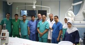 قسم القسطرة القلبية بمجمع الشفاء الطبي ينجح بإجراء أول عملية فتح في غشاء القلب