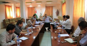 قسم العلاقات العامة بالمستشفيات يعقد اجتماعا مع مندوبي العلاقات العامة بمستشفيات قطاع غزة
