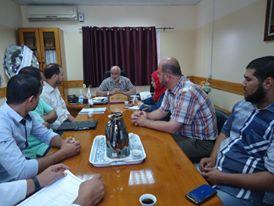 مدير عام المستشفيات يترأس الاجتماع الدوري لمجلس إدارة مجمع الشفاء