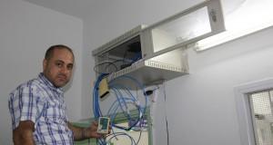 خطوة جديدة نحو حوسبة العمل ,,  تمديد وتركيب شبكة حاسوب جديدة لعيادة الفلاح
