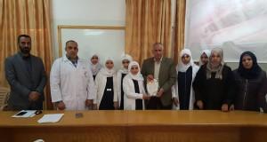 مستشفى بيت حانون يستقبل وفدا طلابيا