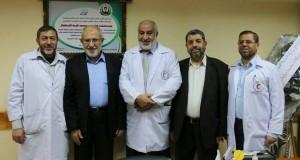 مستشفى الشهيد محمد الدرة يستقبل نواب محافظة غزة