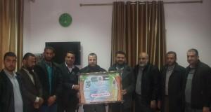 مستشفى الأقصى تستقبل وفدا من حركة حماس في دير البلح