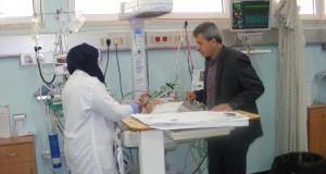 مدير تمريض الإدارة العامة للمستشفيات يتفقد أقسام تمريض الأوروبي