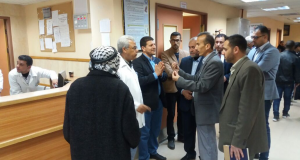 مجلس ادارة م. الأقصى يجري جولة تفقدية لأقسام المستشفى