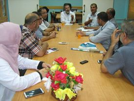 مدير مستشفى العيون يعقد اجتماعاً مع لجنة الجودة
