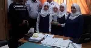 مستشفى الدرة يستقبل وفداً من مدرسة العباس بن عبد المطلب الاساسية ( أ) للبنات