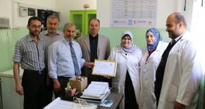 دائر الطب الوقائي و دائرة التمريض بالادارة العامة للرعاية الصحية الاولية تكرم و تشكر الموظفين العاملين في أقسام التطعيمات بالمراكز الصحية بمنطقة غزة