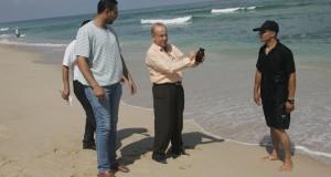 قسم البيئة بإدارة صحة رفح يتفحص شاطئ البحر بالمنطقة الجنوبية بالتعاون مع بلدية رفح