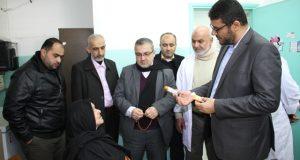 وكيل وزارة الصحة يزور مركز تل السلطان ويثمن جهود العاملين فيها