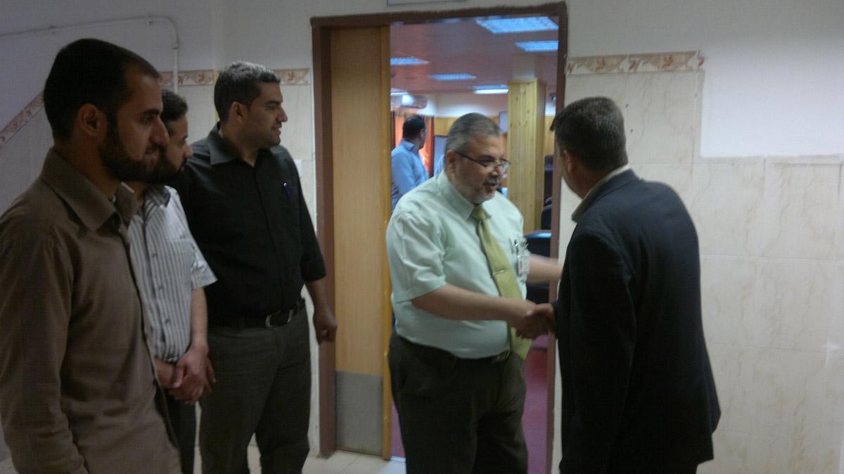مستشفى النصر للأطفال يستقبل وفداً من حركة الأحرار الفلسطينية