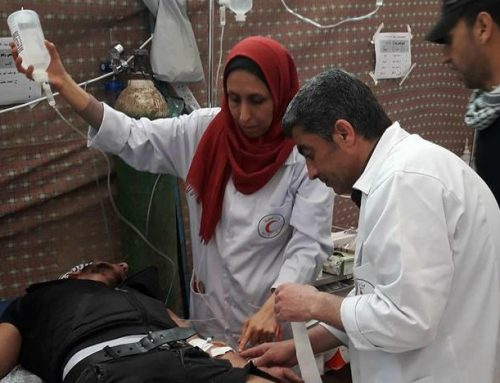 كيف يستقبل محمد ذو السنوات الثلاث أمه الحكيمة بعد عودتها من النقاط الطبية؟