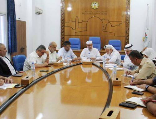 د. ابو الريش يطلع لجنة التربية والقضايا الاجتماعية بالمجلس التشريعي على أبرز التطورات الصحية