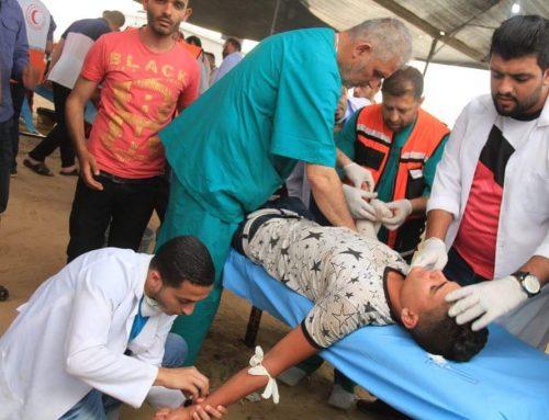 Field trauma stabilization points  in Great March of Return