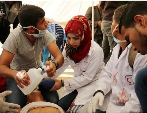 تقرير حول الإنتهاكات الاسرائيلية للطواقم الطبية 30-7