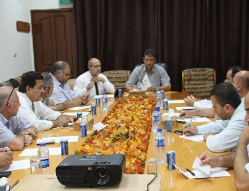 د. أبو الريش يبحث مع مدراء المستشفيات أهم الأزمات وسبل إدارتها
