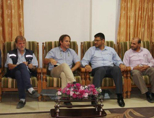 د. أبو الريش يطلع وفدا من منظمة الصحة العالمية على أزمات القطاع الصحي