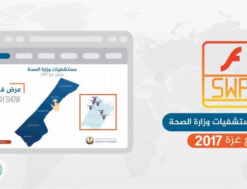 إحصائيات مستشفيات وزارة الصحة – قطاع غزة للعام 2017