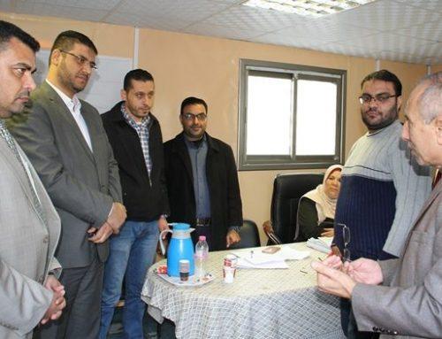 د. أبو الريش يتفقد موقع العمل بمشروع مستشفى الولادة الجديد بمجمع الشفاء الطبي