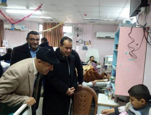 مستشفى الرنتيسى يبحث مع وزارة التعليم آليات استمرار تقديم الخدمة التعلمية للأطفال المرضى