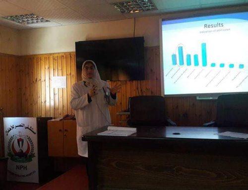 مستشفى النصر يناقش دراسة وتدقيق سريري لحالات دخول أطفال النزلات المعوية
