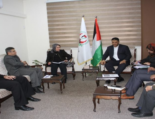 د . أبو الريش يلتقي بمسئولة ملف الصحة في الوكالة لمناقشة سير مشروع شراء العمليات المموله