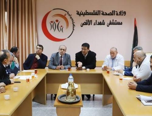 د. ابو الريش يتابع اجراءات تشغيل مبنى الولادة في مستشفى شهداء الاقصى بالمحافظة الوسطى