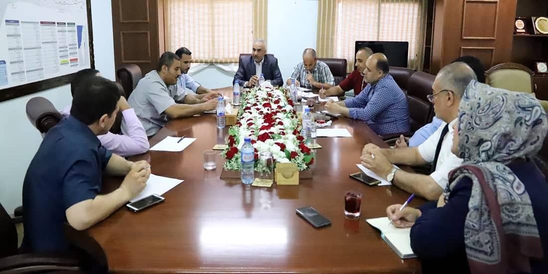 د. أبو زاهر يستقبل رئيس الهيئة المستقلة لتوثيق جرائم الاحتلال