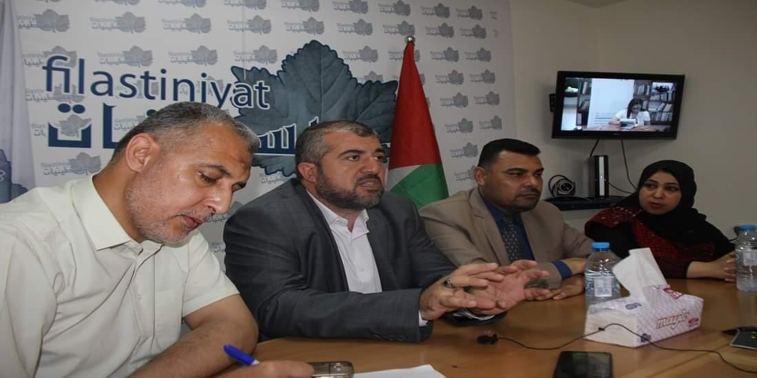خلال لقاء مفتوح نظمته مؤسسة فلسطينيات  د. البرش: استنزاف الأرصدة الدوائية غير مسبوق ولا حلول جادة في الأفق