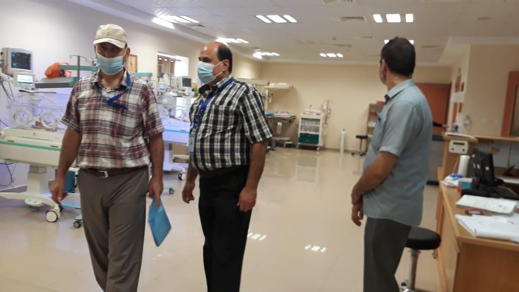 الخدمات الفندقية ولجنة المتابعة الميدانية في زيارة م الأقصى ومراكز الرعاية الأولية في منطقة الوسطى