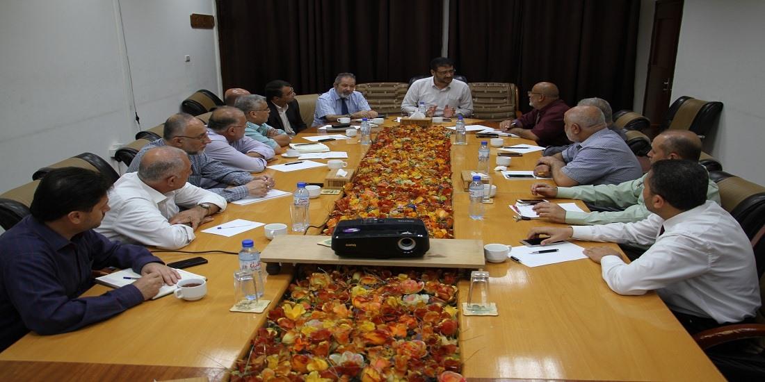 د. أبو الريش يلتقي بمدراء المستشفيات لوضع محددات جديدة لتحسين أداء العمل في المستشفيات