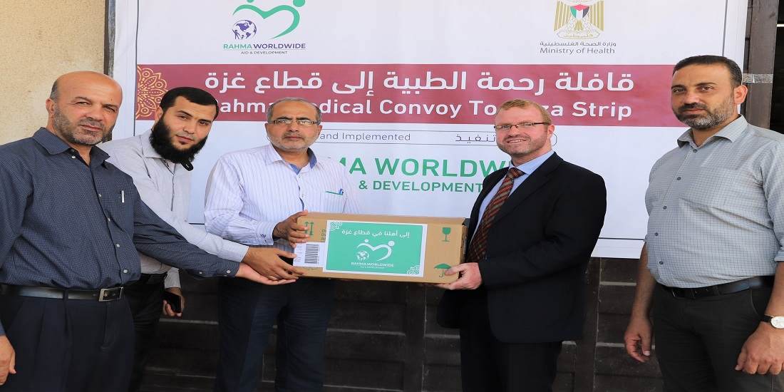 MoH-Gaza receives a shipment of medicines from the Rahma Worldwide Foundation