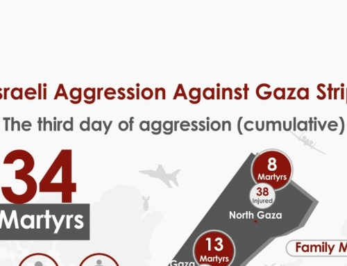PHIC-MoH-Gaza, Infograf of  Israelian occupation aggression against Gaza Strip the 3th day (cumulative)