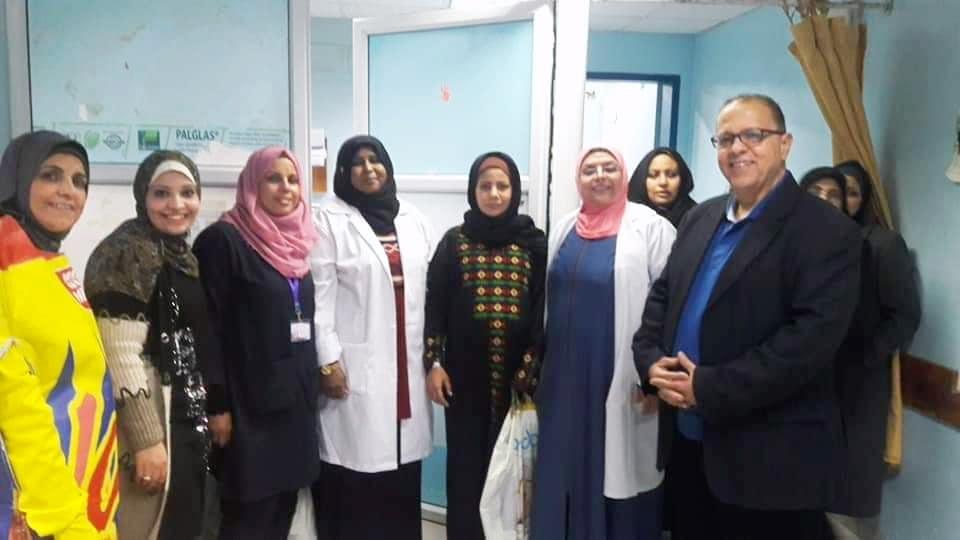 """مستشفى الولادة بمجمع الشفاء الطبي يطلق مبادرة """"اطمني احنا معاك"""" لمؤازرة الامهات"""