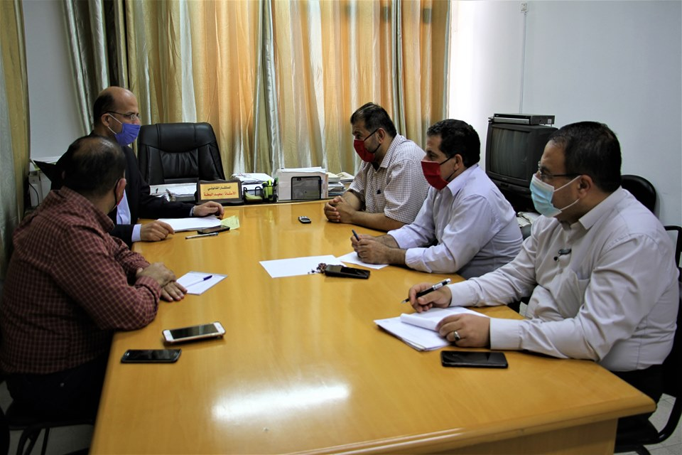 مدير عام الشئون القانونية يلتقي بوفد من وزارة شئون الأسرى والمحررين