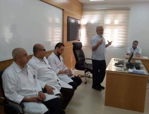 لجنةالتدريب والتعليم التمريضي تفتتح البرنامج التدريبي التعريفي لطاقم التمريض الجدد.