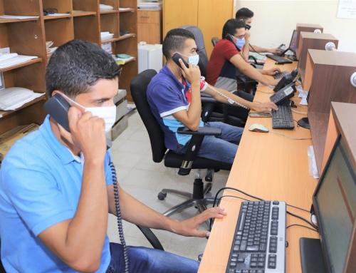 الصحة: أكثر من 68 ألف اتصال هاتفي تلقتها الكوادر الصحية خلال جائحة انتشار فيروس كورونا في قطاع غزة