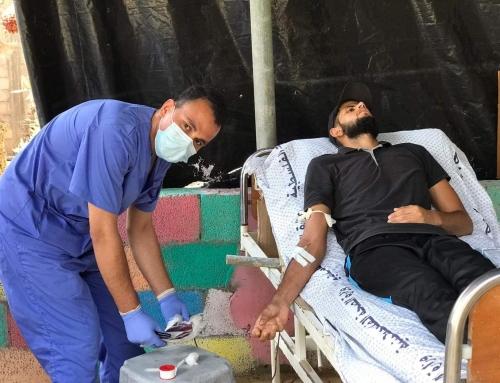 مختبر شهداء الاقصى يشرع بحملات تبرع بالدم