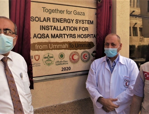MOH-Gaza In partnership with the Gazi Destek Association launches solar energy at Al Aqsa Hospital
