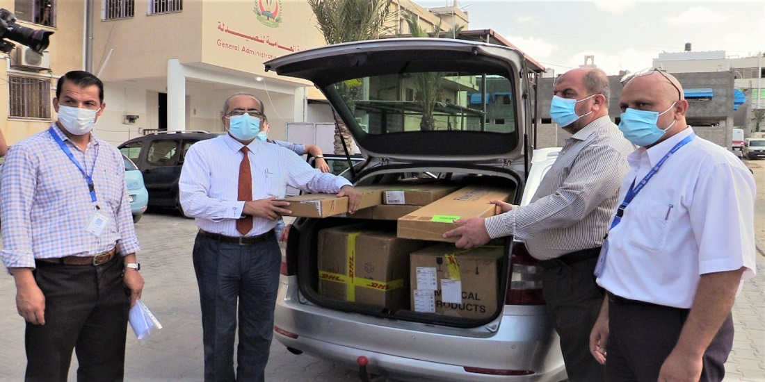 "MOH-Gaza receives (10) medical devices for "" COVID-19″ patients"