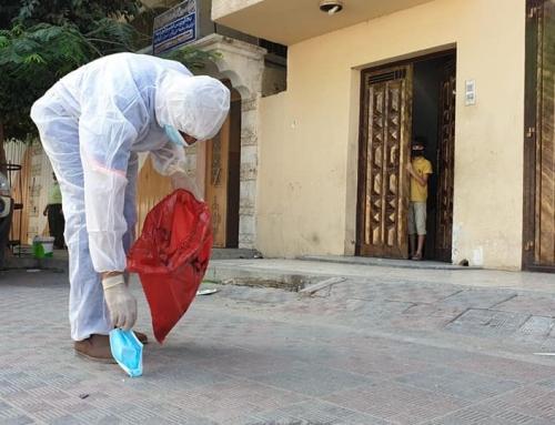 دائرة التثقيف الصحي: إلقاء الكمامة على الأرض ظاهرة خطيرة تساهم في انتقال عدوى فيروس كورونا