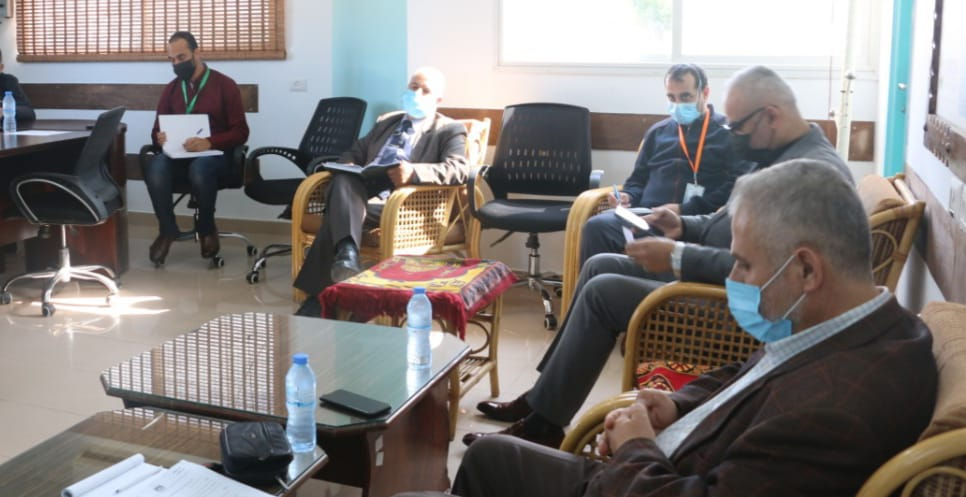 MoH – Gaza: Home Isolation Committee holds its first meeting to discuss the provision of health care to Covid 19 patients