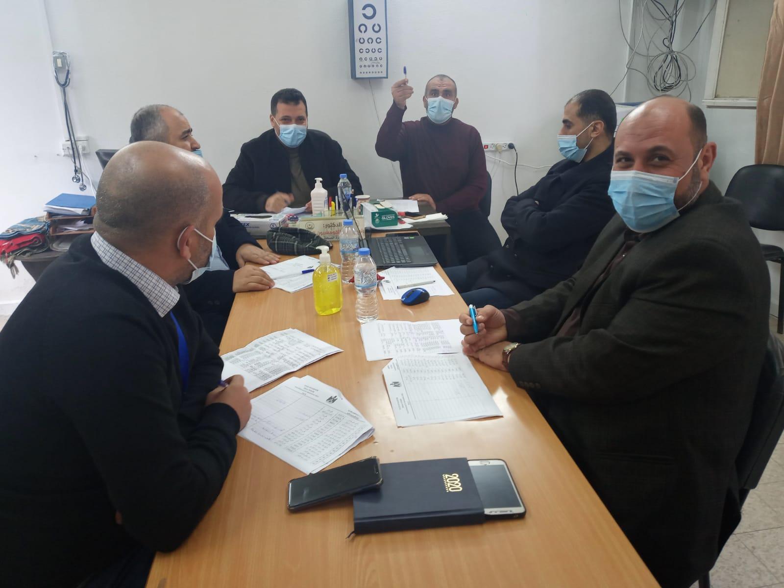 انعقاد اللجنة الخاصة بموظفي الادارة العامة للهندسة والصيانة في مقر دائرة الكومسيون الطبي